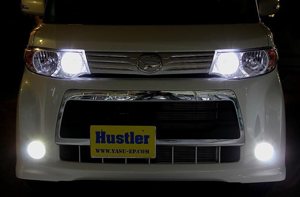 タントカスタム L375 専用 LED フォグ スーパーホワイト 左右