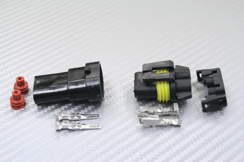 Hustler 配線加工用(+/-) 防水接続カプラーオンKit