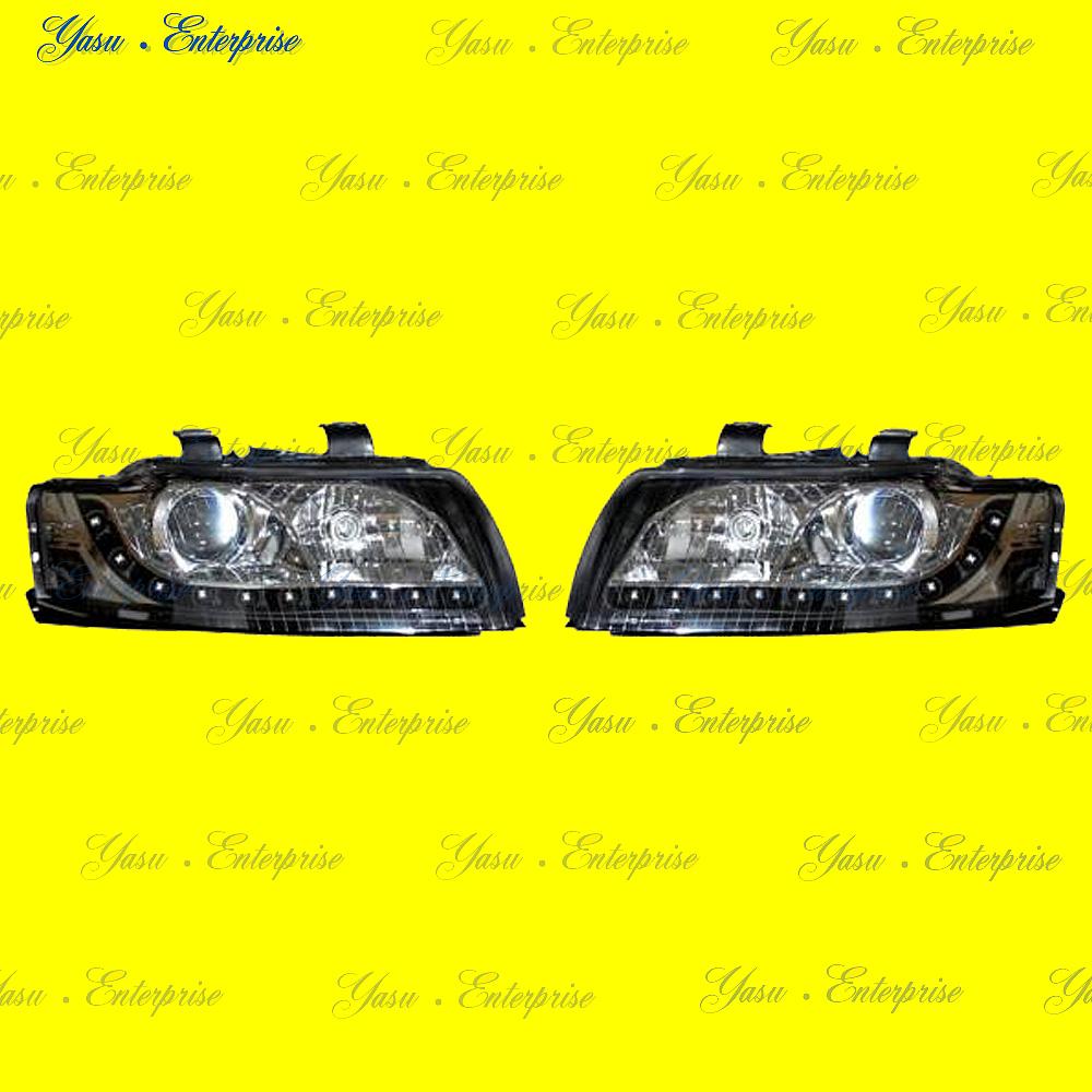 AUDI A4 B6 LEDブラックヘッドライト キセノン車用 DEPO