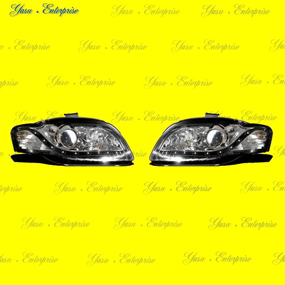 AUDI A4 S4 RS4 B7 LEDポジション付ブラックヘッドライト DEPO