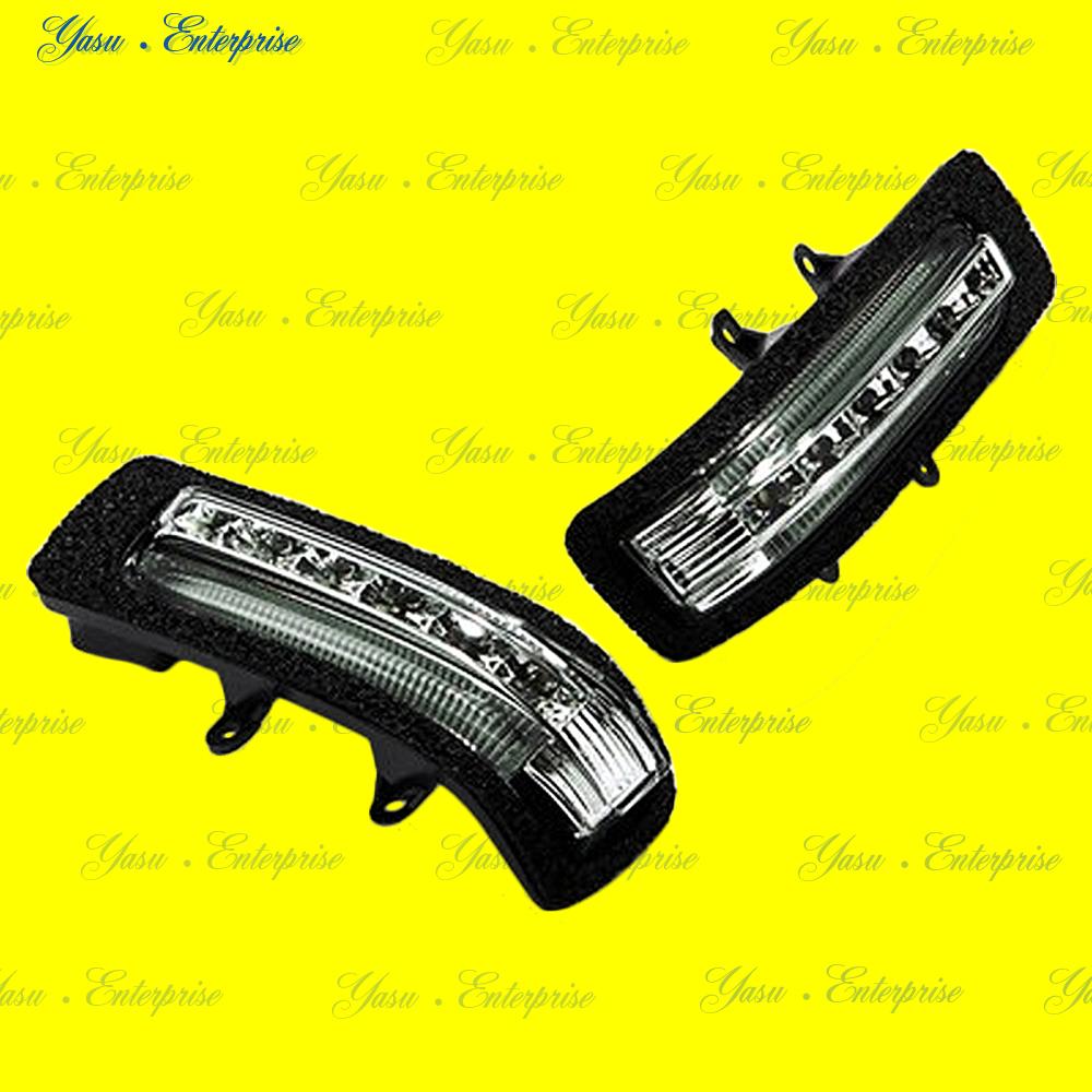 ラクティス LEDドアミラーウィンカー&デイライト ホワイトライン スモークレンズ