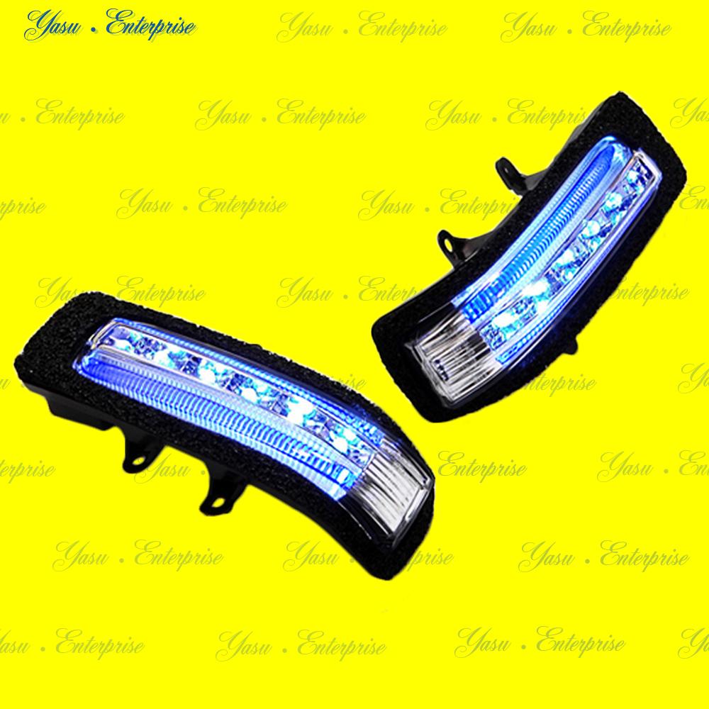 ヴァンガード 30系 LEDドアミラーウィンカー&デイライト ブルーライン スモークレンズ