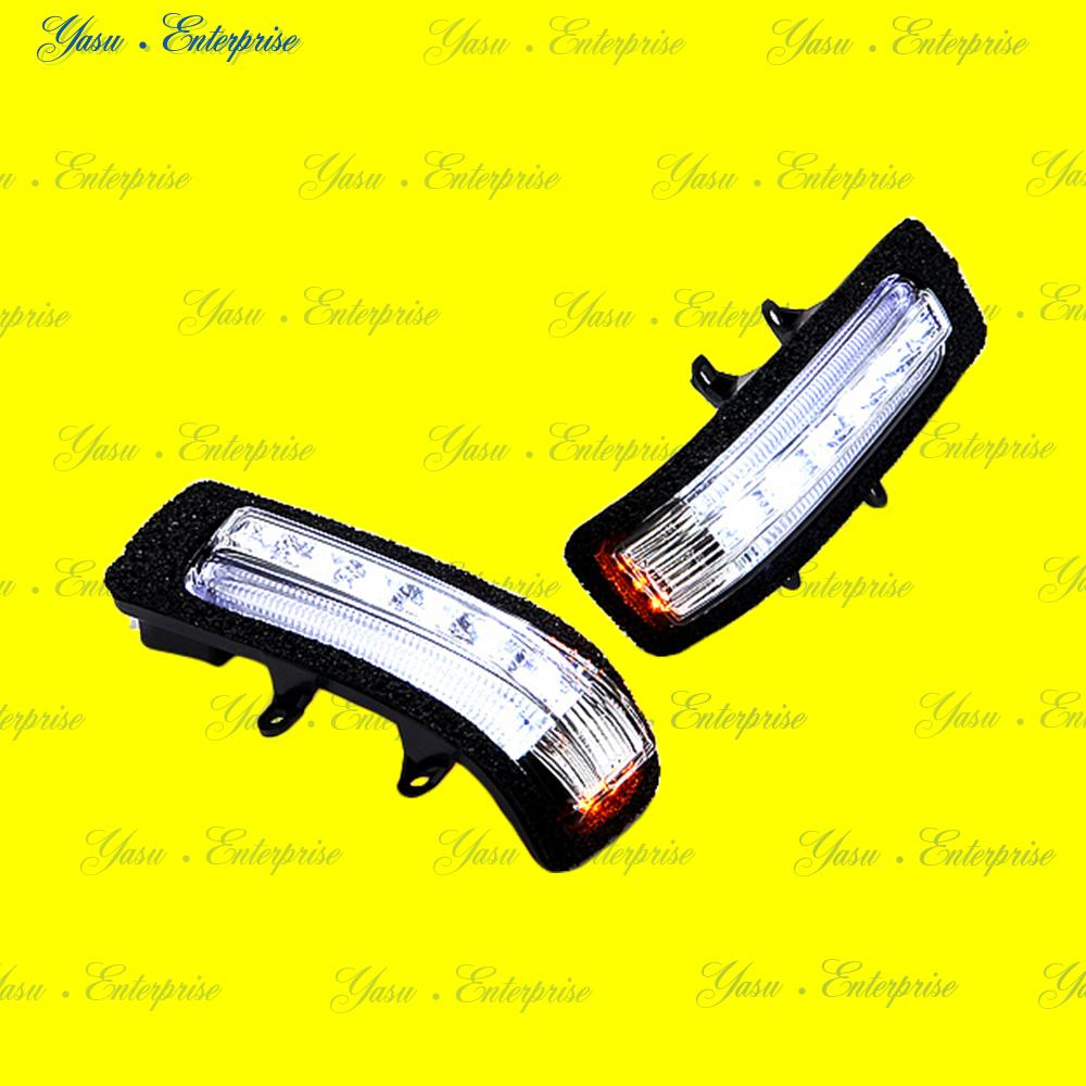 ヴァンガード 30系 LEDドアミラーウィンカー&車幅灯 ホワイトライン クリアレンズ