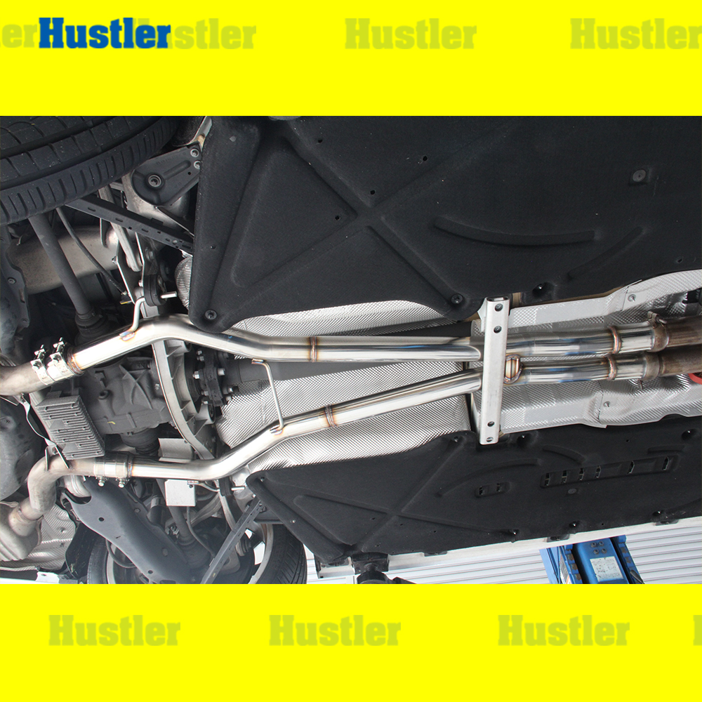 ベンツ W221 S63 AMG専用 スチール製 中間ストレートマフラー
