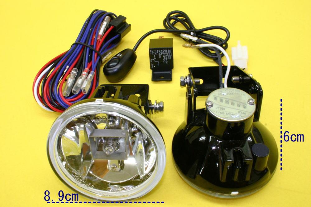 ブラバス/ロリンザーエアロ用 フォグ 2個 リレー スイッチSet