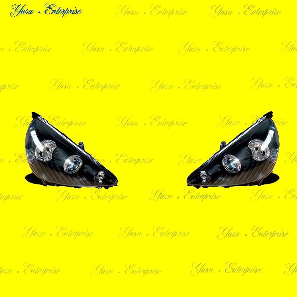 フィット GD系 プロジェクターヘッドライト ブラック DEPO