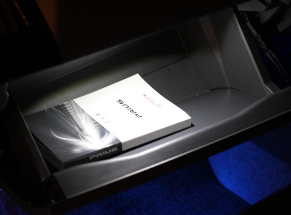 プリウス フット グローブボックス コンソールボックス LEDバルブ ブルー