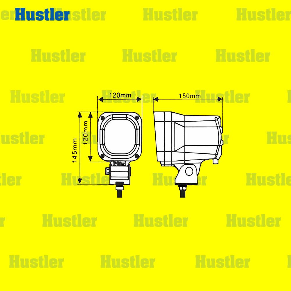 フォークリフト/トレーラー/船舶 簡単取付 HID作業灯 ホワイト