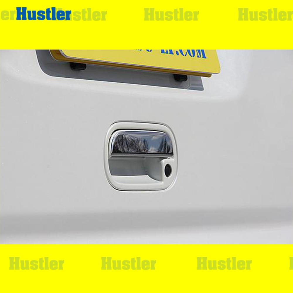 N‐BOX /カスタム JF1 JF2 バックドアノブカバー 鏡面ステンレス