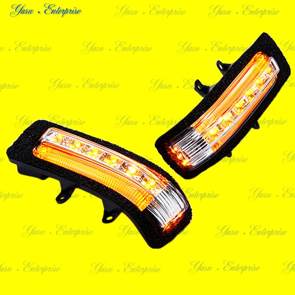 エスティマ 50系 後期 LEDドアミラーウィンカー オレンジライン デイライト化キット付 スモークレンズ