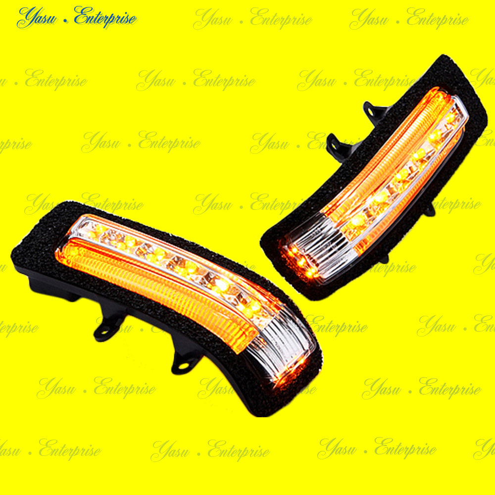 ヴェルファイア LEDドアミラーウィンカー オレンジライン デイライト化キット付 スモークレンズ