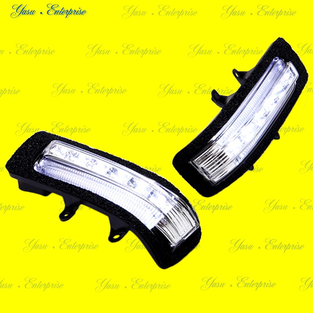 ラッシュ LEDドアミラーウィンカー&車幅灯 ホワイトライン スモークレンズ