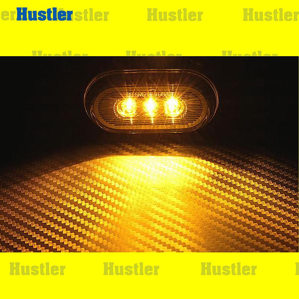 サイドマーカー(アンバー) 3連 LED T10ウェッジ 左右 Set