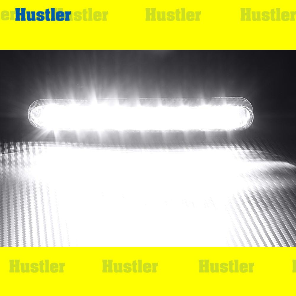 ホワイトLED(大粒18連)9 デイライト 取り付けステー&配線Set